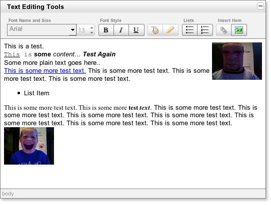 YUI 2: Rich Text Editor